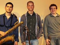 Sean Marks '13 (Saxophone), Jon Lacy '13 (Trombone) and Joe Anderson '13 (Trumpet)