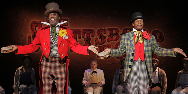 Forrest McClendon (right) stars in The Scottsboro Boys