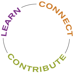 Learn Connect Conntribute circle logo