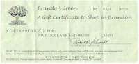 Brandon Green Certificate