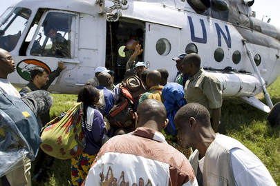 FARDC Combatants Board Helicopter to Rehabilitation Camp in DR Congo