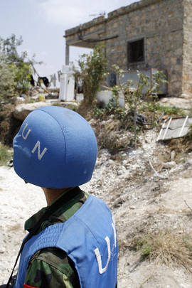 UN blue helmets