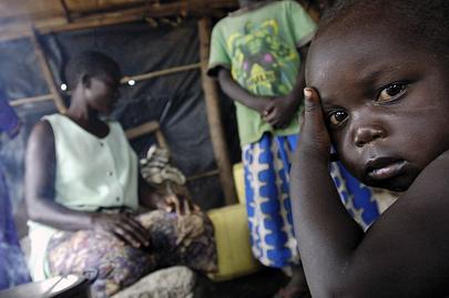 Madi Tribe family in Nimule, Sudan.