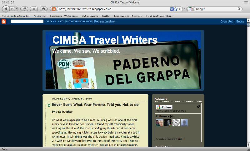 Travel Writers' Blog!