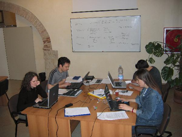A Six Sigma group works in the CIMBA library.