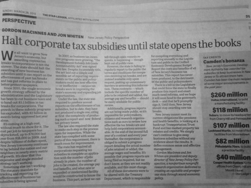 star ledger oped