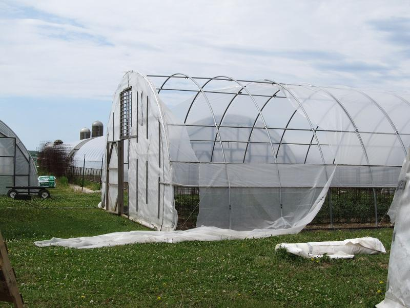 hoop house wind damaged 05.12