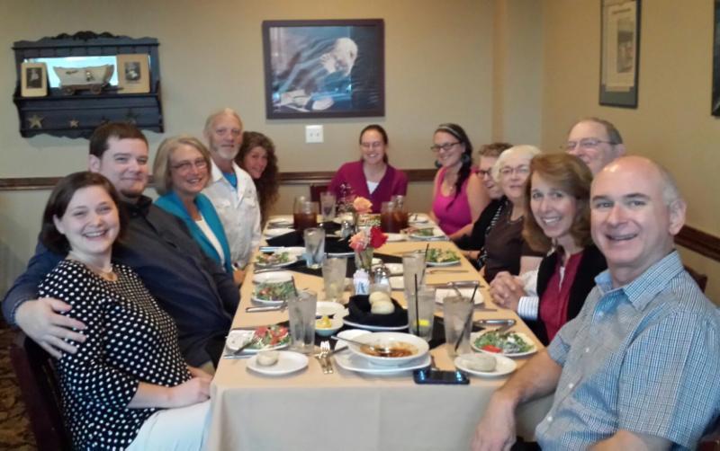 Local pastors with Sharon Watkins