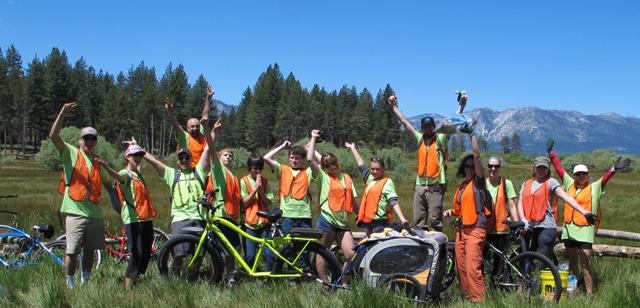 Tahoe Bike Challenge Bike Path Cleanup
