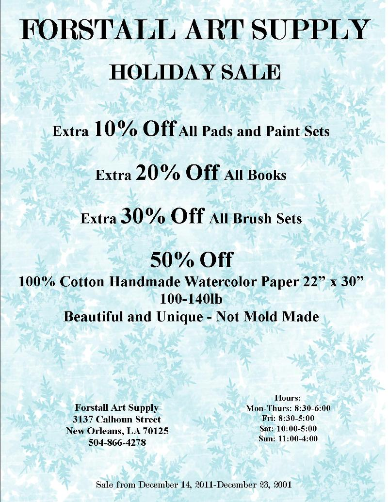 2011 Holiday Sale
