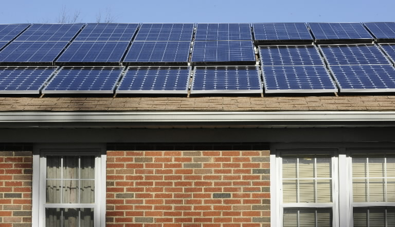 Maryland home with solar panels