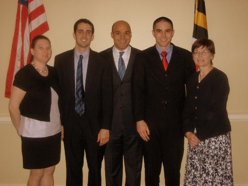 photos of Delegate Carr's Annapolis staff