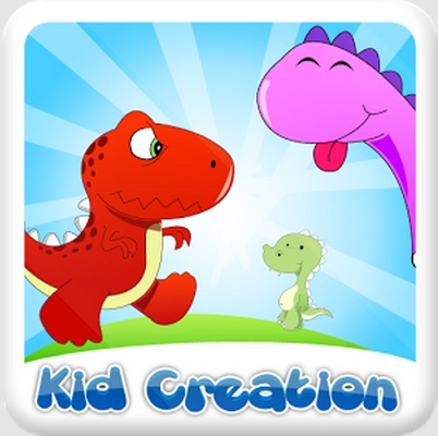 icon showing a red and pink dinosaur