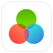app logo showing a red, blue, and green circle overlapping