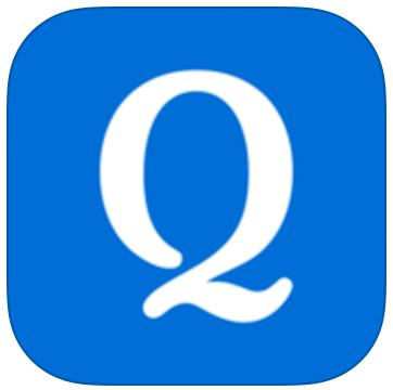 blue logo icon with a white letter q