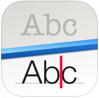 prizmo icon showing the letters abc