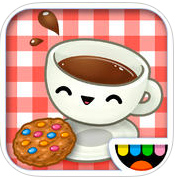 icon showing a teacup and cookie