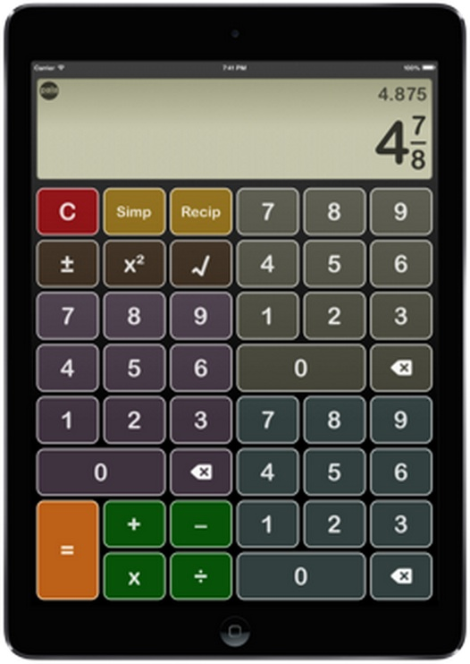 ipad with image of calculator