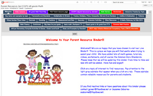 screen shot from live binders with indistinguishable writing and clipart image of children forming a pyramid