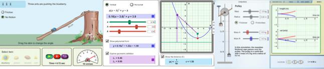 three math and science widgets