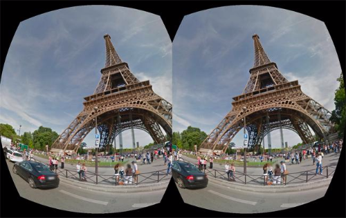 stereoscopic view of eiffel tower