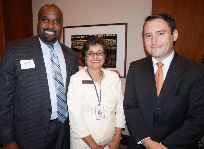 Assistant U.S. Attorney Kenneth Parker, Former SWEL Student (l) With Strauss Troy Attorneys Philomena Ashdown And Kris Brandenburg At SWEL Opening Reception