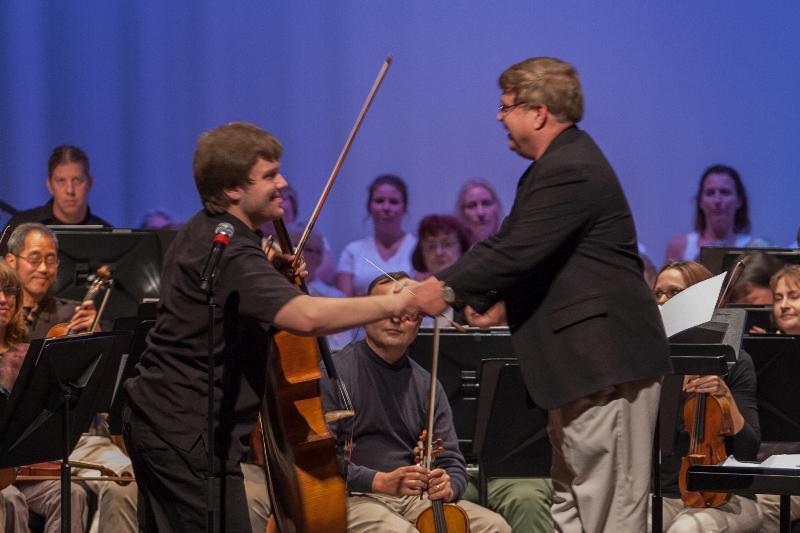 Cellist Ben Fryxell & KSO Conductor J.R. Cassidy