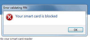 locked PIV Card