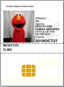 HHS ID Badge Elmo