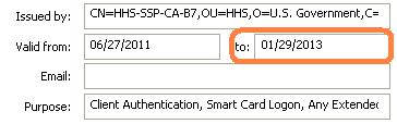 Checking Certificate Expiration Date