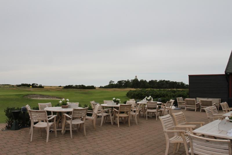 Lunch p_ Falsterbo golfklubb. Foto av Kerstin Alm