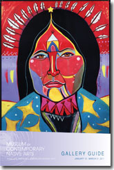 MoCNA Gallery Guide Cover - George Littlechild, She Walks Across the Stars