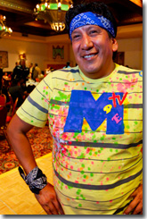 Nathan Romero at IAIA '80s-themed Gala