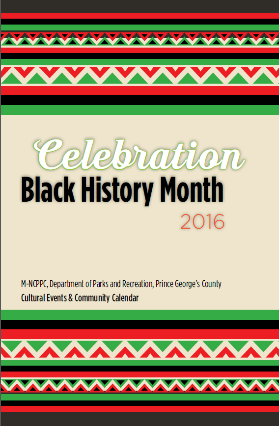 Cover of Black History Month brochure