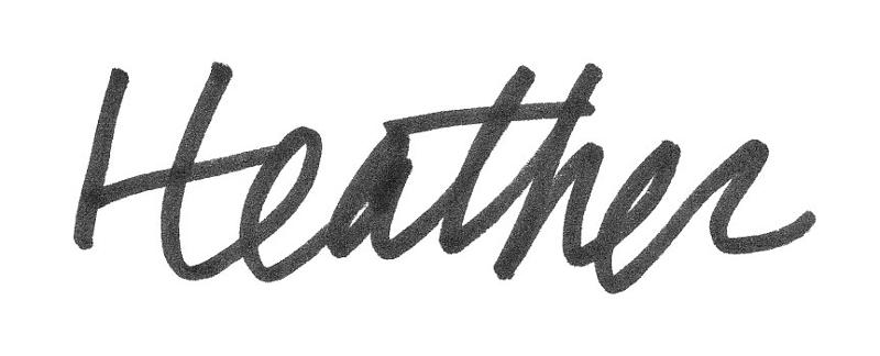 Heather's signature