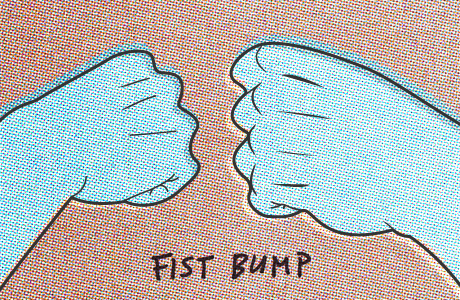 fistbump props shout out thank you