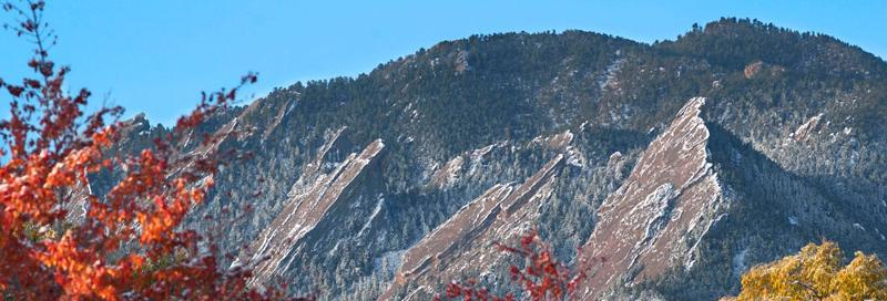 Fall Flatirons - CU Boulder Photo