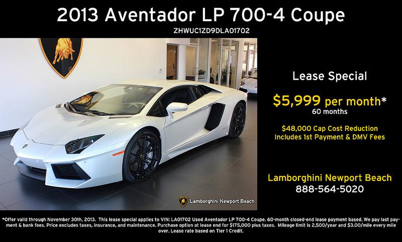 Lamborghini Newport Beach November Newsletter