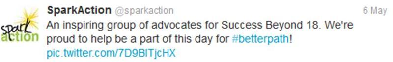 SparkAction tweet
