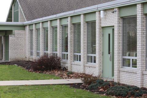 NH Baptist Church windows