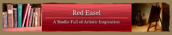 Red Easel: A Studio Full of Artistic Inspiration