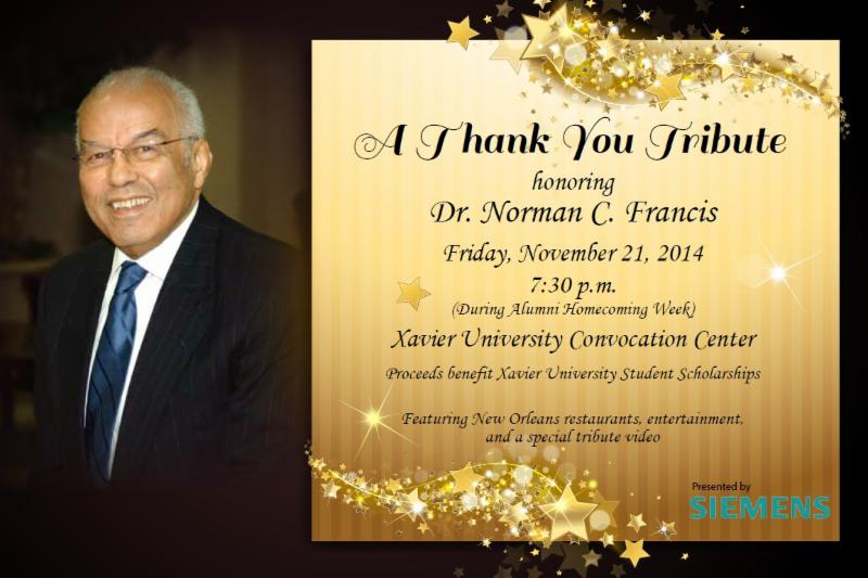 Thank You Tribute honoring Dr. Norman C. Francis