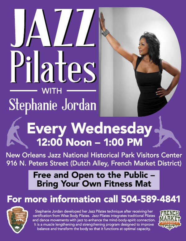 Jazz Pilates with Stephanie Jortdan - French Market Poster