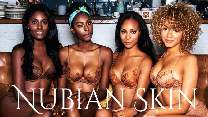 Nubian Skin lingerie models