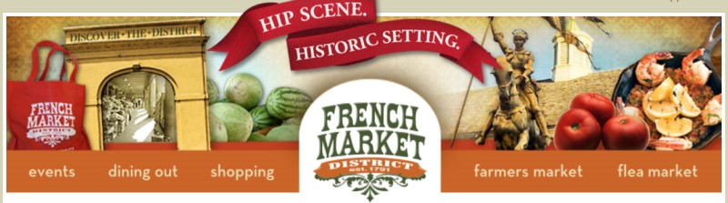 French Market District - banner