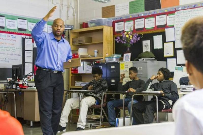 Michael Walker often finds himself in classrooms in Minneapolis