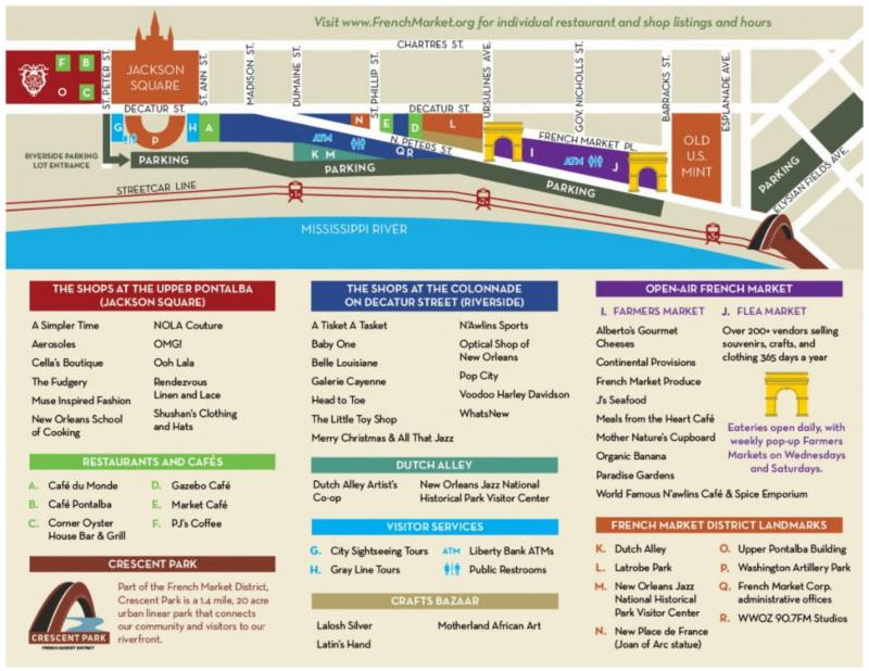 French Market Brochure Map