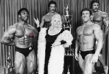 Mae West w/ Bodybuilders