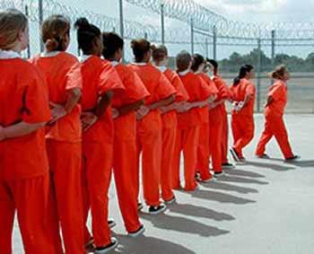 Line of Prison Women