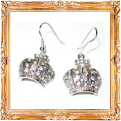 Crown Earrings Framed